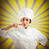 Woman chef delicious