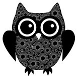 vector abstract owl