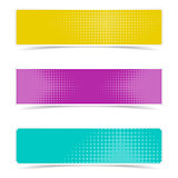 Banners with halftone design