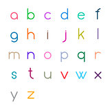 Colorful thin letters