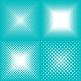 White vector abstract halftone backgrounds