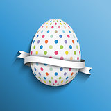 Polka dot easter egg background