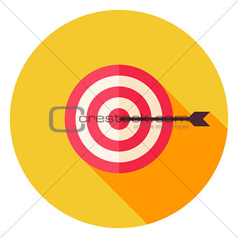 Aim with Arrow Circle Icon