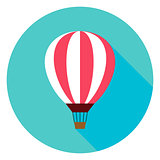 Air Balloon Circle Icon