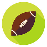 American Rugby Ball Circle Icon