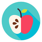 Apple Fruit Circle Icon