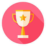 Award Cup with Star Circle Icon