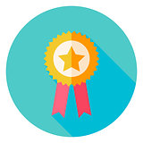 Award Gold medal with Star Circle Icon