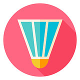 Badminton Shuttlecock Circle Icon