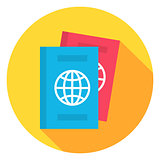 Document Passport Circle Icon