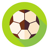 Football Soccer Ball Circle Icon
