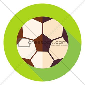 Football Soccer Ball Circle Icon