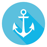 Marine Anchor Circle Icon