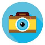 Photo Camera Circle Icon