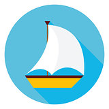 Sea Boat Circle Icon