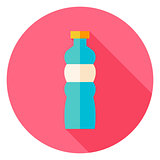 Sport Bottle of Water Circle Icon