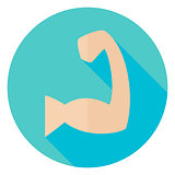 Sport Human Muscle Hand Circle Icon