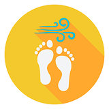 Summer Footprints on the Beach Circle Icon