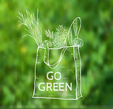 Reusable shopping  eco bag