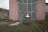 Ballerina in white tutu
