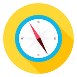 Travel Compass Circle Icon