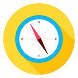 Travel Compass Circle Icon