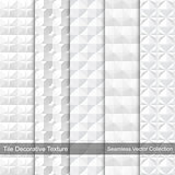 Tile decorative texture. Seamless vector patterns.