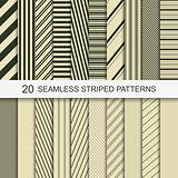 20 seamless striped patterns.