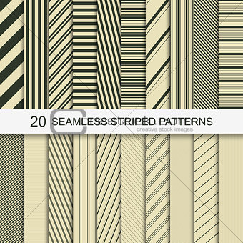 20 seamless striped patterns.