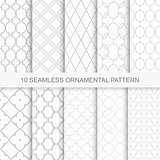 Set of vector seamless ornamental patterns.