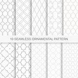 Set of vector seamless ornamental patterns.