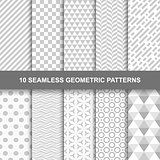 10 Seamless geometric patterns.