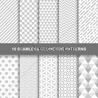 10 Seamless geometric patterns.