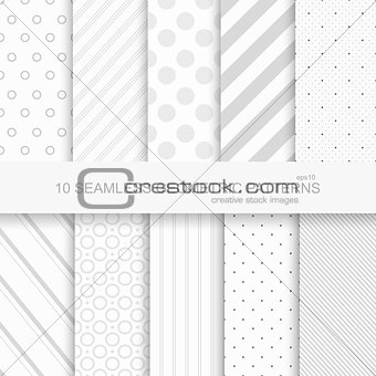 10 Geometric seamless patterns.