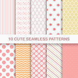 10 cute seamless  patterns