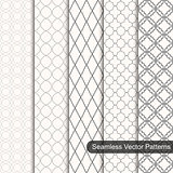 Set of vector ornament seamless patterns
