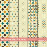 Set of 5 retro seamless patterns.