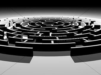 Circular 3d maze