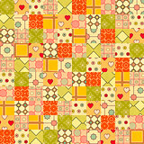 Seamless background in patchwork style