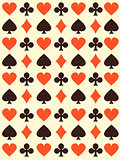 Vector background with playing cards symbols