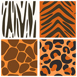 Collection of seamless animals skins textures