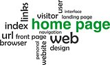 word cloud - home page