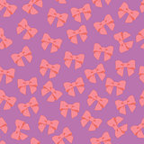 Seamless vector pattern with pastel  bows on a tile  background.