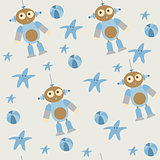 cute seamless pattern of baby toys