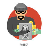 Robber Icon with Safe