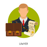 Lawyer Icon with Briefcase