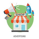 Internet Shopping and Marketing Flat Icon Set