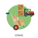 Storage and Delivery Flat Icons