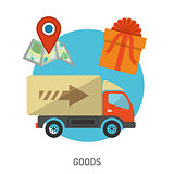 Delivery Goods Flat Icons