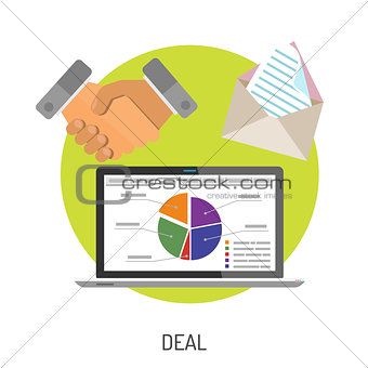 Business and Deal Flat Icons